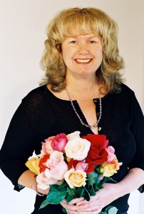 Marian Hubler with roses