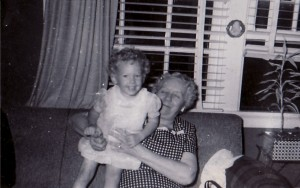 Louis Ohmer Hubler with Marian age three